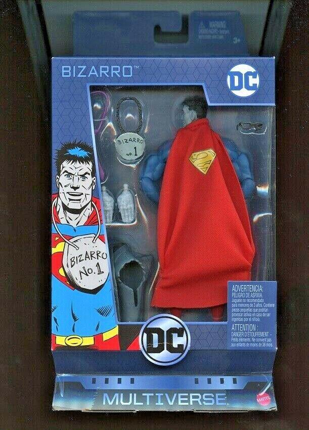 BIZARRO SUPERMAN ( 6  ) VHTF ( 2018 ) DC COMICS MULTIVERSE ACTION FIGURE