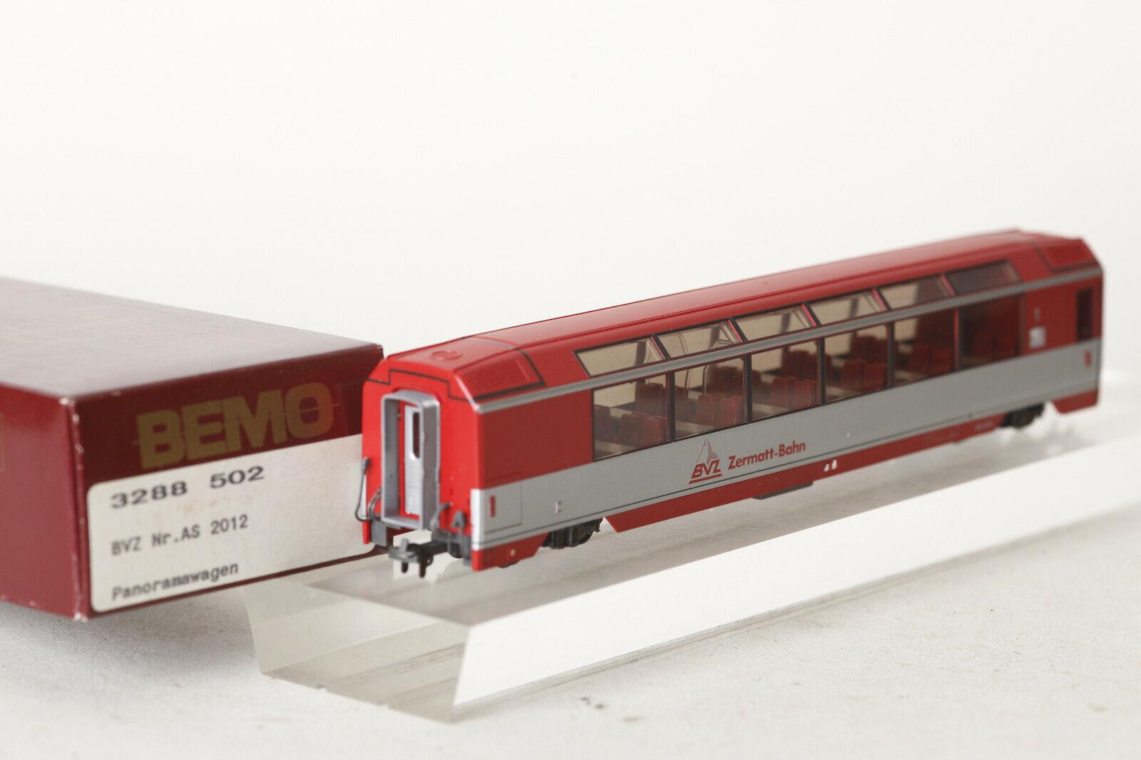 Bemo H0m 3288 502 Panorama Car Bvz Zermatt-Bahn as 2012 Red Boxed (93886)