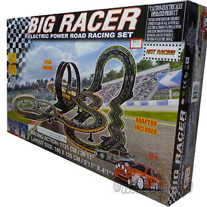 Details about Golden Bright - Big Racer Electric Power Road Racing Slot Car  Set 36  Track 6626 e04b02095658