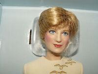 Franklin Mint Princess Diana Porcelain Portrait Doll Queen Of Fashion W Coa