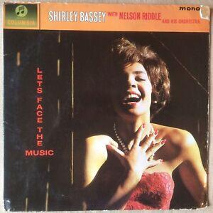 SHIRLEY-BASSEY-LETS-FACE-THE-MUSIC-VG-VG-VINYL-LP-MONO-COLUMBIA-LP-sheet