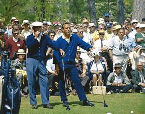 Arnold-Palmer-and-Ben-Hogan-Smoking-at-Tee-During-Round-of-Golf-Photo