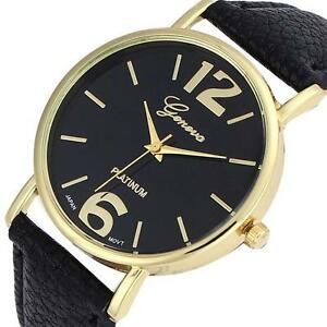 NEW-Geneva-Unisex-Watch-Women-Men-Faux-Leather-Analog-Quartz-Wrist-Watch-Trusty