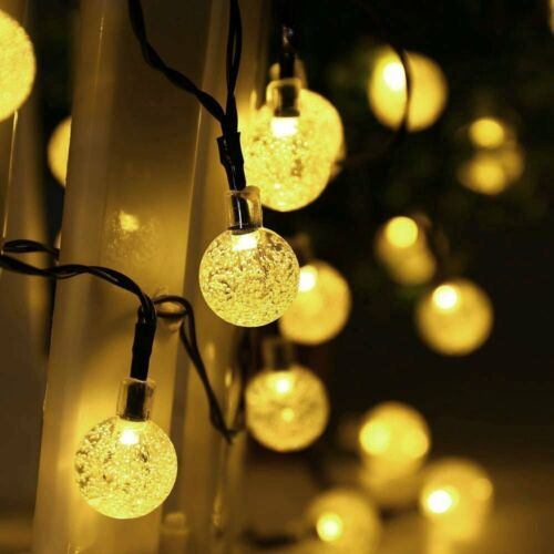 10m 40 LED Luce Solare Catena Sfera Luci catene dekobeleuchtung esterno bianco caldo