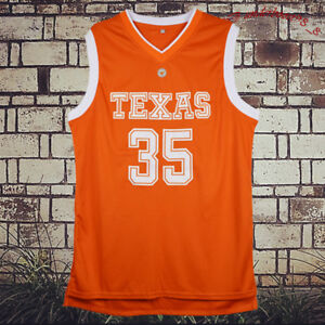 best website 592ab 3d86d Details about 35 Kevin Durant Burnt Texas Longhorns Men Stitched Orange  Basketball Jersey