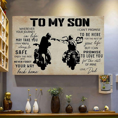 Goku Poster To My Son  Love Dad Son Gift Father And Son Wall Art Decor