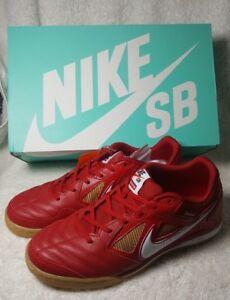 big sale 95cfa b7e86 La foto se está cargando Supreme-x-Nike-SB-Gato-Gimnasio-Rojo-Goma-