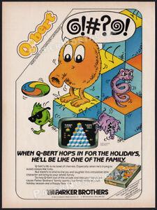 Q*BERT__Orig. 1984 Print AD / game ADVERT__Atari_Coleco_Commodore_Intellivision