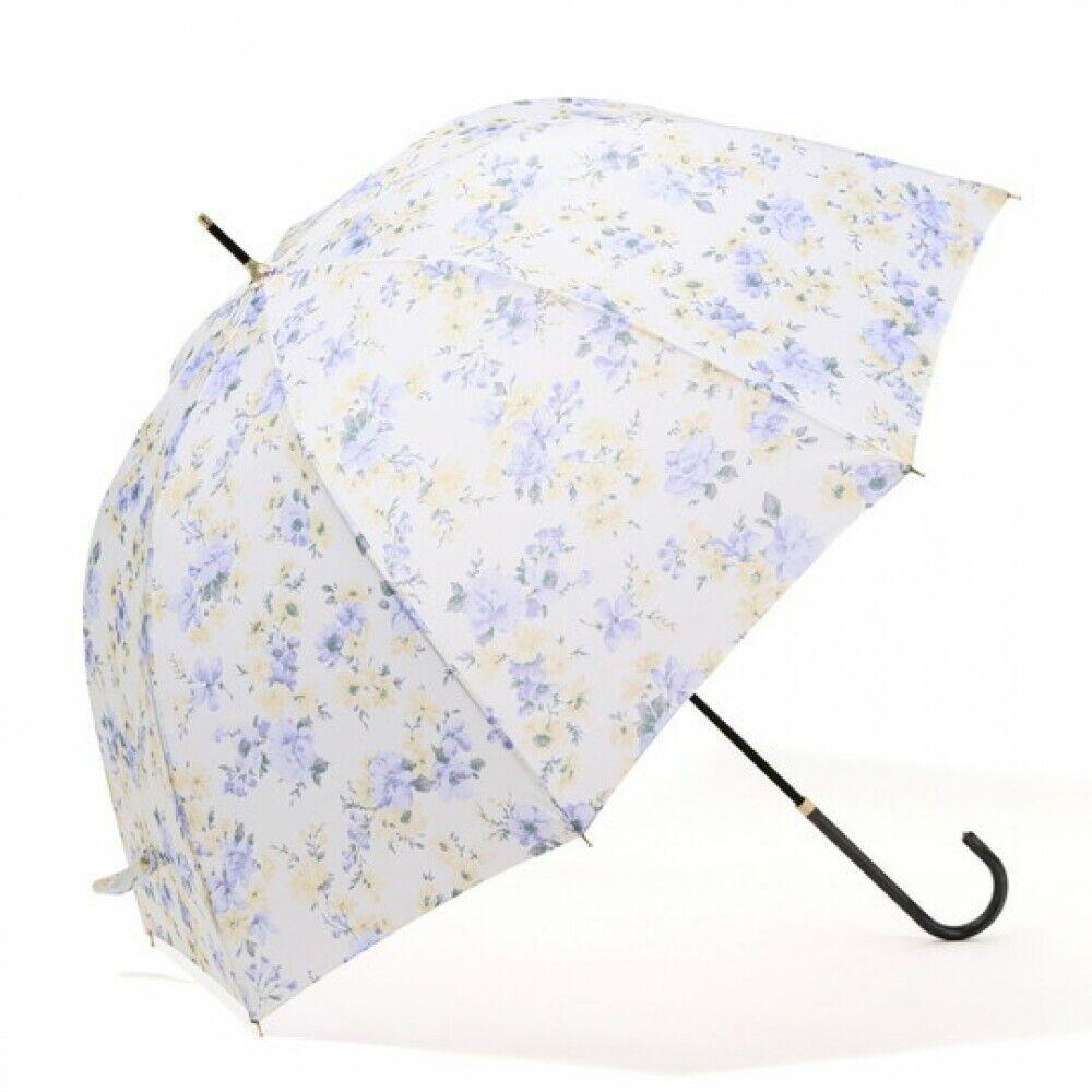 Francfranc Romantic Flower Long Umbrella 58cm Blue Rain Goods Accessory