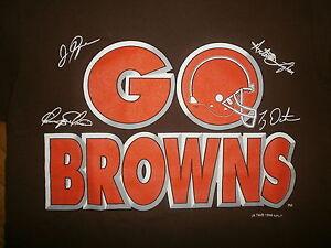 Vtg 1999 Cleveland Go Browns Shirt Ty Detmer Chris