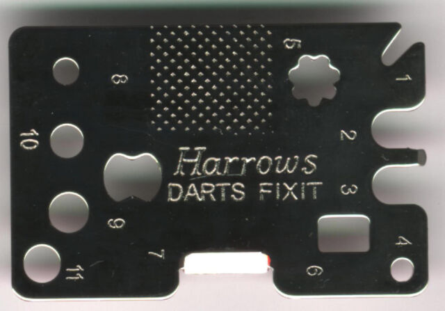HARROWS Darts Fixit Tool: 11 Functions for Soft and Steel Tip Darters