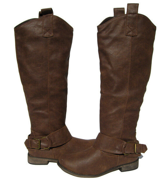 New Women's Knee High Light Brown Riding Boots winter snow Ladies size 6.5