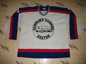 VINTAGE CANADIAN MINOR REC BEER LEAGUE GAME USED HOCKEY JERSEY MASKA ... 13956ca1f0f