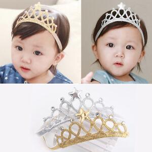 Baby-Maedchen-Krone-Glitzer-Haarband-Stirnband-Kopfband-Haarschmuck-Prinzessin