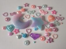 STAR Glitter DECORATIVE MIX Set Flatback Resina Cabochon Kawaii Phone caso kit fai da te