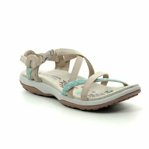 New-Originals-Women-039-s-Sandals-Skechers-Reggae-Vacay-Memory-Foam-Taupe-sz