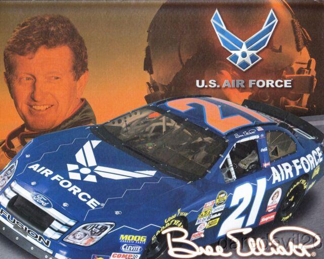 2007 Bill Elliott US Air Force Ford Fusion NASCAR Sprint Cup blankback postcard