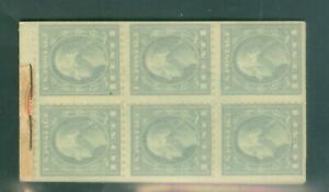 US BOOKLET 34-24-1c STAMPS GREEN 24-2c STAMPS RED COMBO BK. ISSUED 1912-39