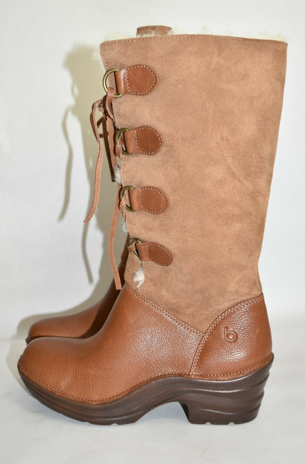 270+ BIONICA Roxen Lace Up Boot ITALIAN Genuine Shearling WATERPROOF BOOT 7 (B2