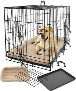 Pet-Dog-Cat-Crate-Kennel-Cage-Bed-Pad-Cushion-Warm-Soft-Cozy-House-Kit-Playpen