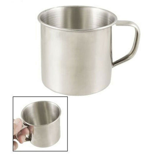 Practical Stainless Steel Coffee Tea Mug Cup Outdoor Camping Hiking Water Cup