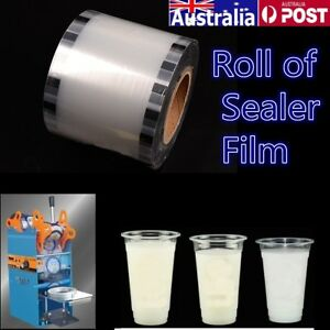 1 Roll Clear Film Bubble Tea Cup Sealer 90-105mm for Automatic Sealing Machine