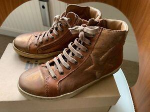en taille pour filles 2 cuir antique Eu34 Magnifiques Bisgaard bronze brunes bottines agzqExT