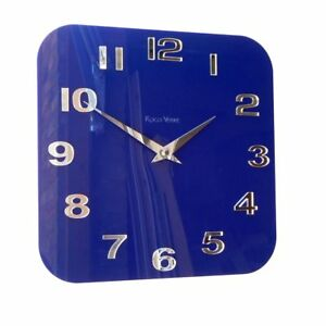 Image Is Loading Roco Verre Acrylic Gloss Modern Retro Wall Clock