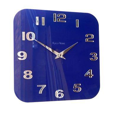 ROCO VERRE Acrylique Brillant Moderne Rétro Horloge murale Violet
