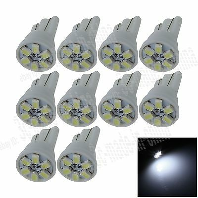 10X Car HID White 6 LED 1206 SMD T10 W5W Bulb Wedge Side Light Bulb Lamp A036