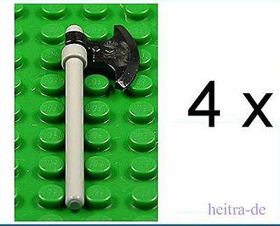 LEGO Ritter 53705 63965 NEUWARE 4 x Ritteraxt Axt schwarz mit Stiel schwarz