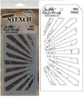Tim Holtz Collection Layering Stencil Rays Ths003 Release