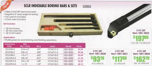 CCMT Indexable Insert Boring 3 Bars 4 Carbide Inserts
