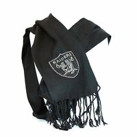 Oakland Raiders Pashi Scarf With Crystal Team Logo 28x66 Nfl Football Licensed