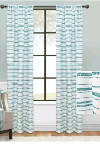 "set of 2 mainstays stripe impression Curtain panel 56/""×84"
