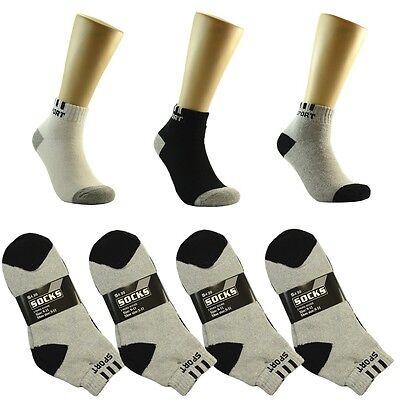 Grid 12 Pairs//1 Doz Sport Ankle//Quarter Crew Mens Socks Cotton low cut Size 9-13