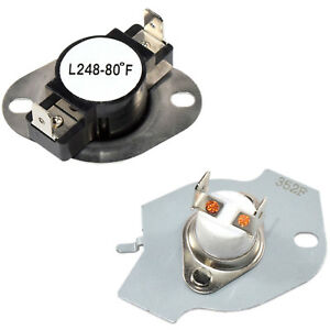 279769 Dryer Thermostat and Thermal Fuse Kit Replace AP3094224 3977394