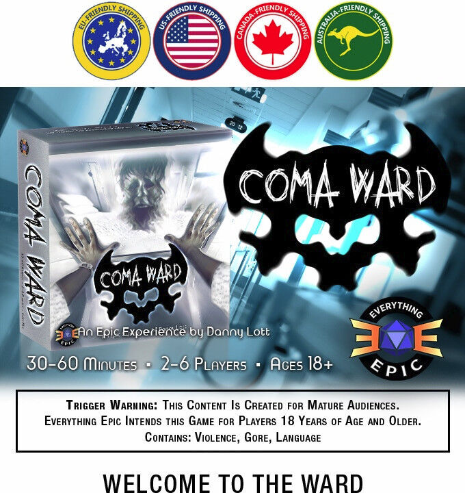 KS Exclusive coma Ward  The Horror Board Game Premium de Everything Epic