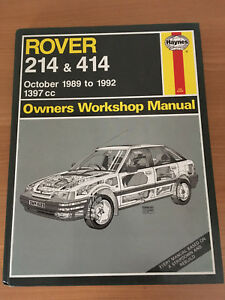 rover 214 414 haynes service repair manual oct 89 to 92 1397cc rh ebay ie Rover 214 SLI Rover 214 1991 Loughton