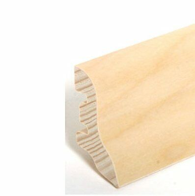 "echtholzfurnier - 22.40.8 Frank Fuß- U Sockelleisten ""potsdam"" - Birke Lackiert Clear-Cut-Textur"