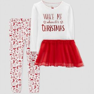 e84a11a5e 2T Toddler Just One You Carter s Christmas Outfit bodysuit red tutu ...