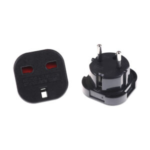 2pcs-ME-To-EU-Euro-Europe-European-Travel-Adaptor-Plug-2-in-1-Adapter-Black-0cn