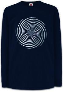 T-shirts, Polos & Hemden Kindermode, Schuhe & Access. Angemessen Hypno Spiral I Kinder Langarm T-shirt Spiral Labyrinth Hypnotic Circle Spirale Hoher Standard In QualitäT Und Hygiene