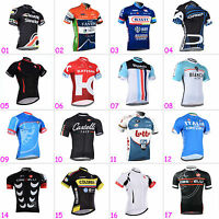 Mens Riding Clothes Polyester Cycling Tops Wear Jerseys Short Sleeve Shirt