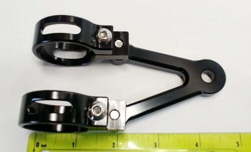 39mm Billet Aluminum SHORTY Headlight Brackets Fork Ears Cafe Racer Scrambler