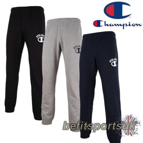 CHAMPION MENS SWEAT PANTS TRACK JOGGERS BLACK GREY NAVY S M L XL XXL