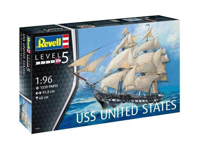 Uss United States 1 96, Revell Ship Model Building Kit