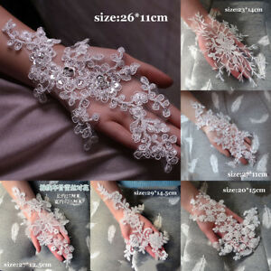 3D-Flower-Embroidery-Lace-Bridal-Applique-Beaded-Pearl-Tulle-DIY-Wedding-Dress