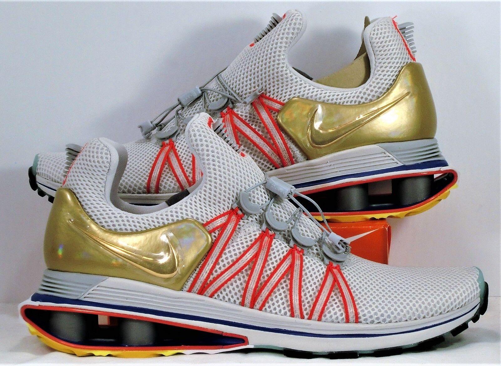 Nike Shox Gravity Vast Grey & Metallic gold Running shoes Sz 11 NEW AQ8553 009