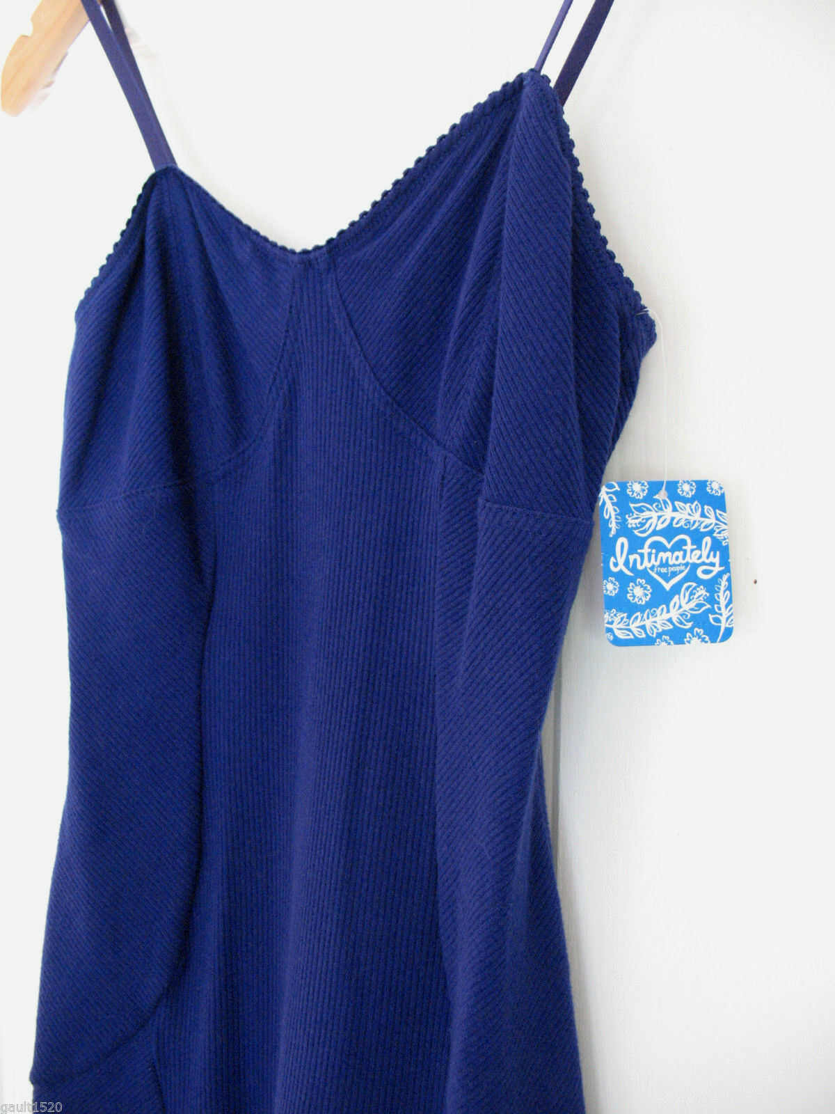 NWT Free People Intimately Sexy Periwinkle bluee Bodycon Chemise Nightie S
